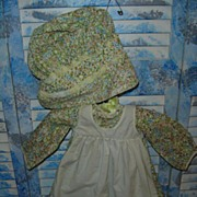 Knickerbocker Holly Hobbie Heather Dress & Bonnet