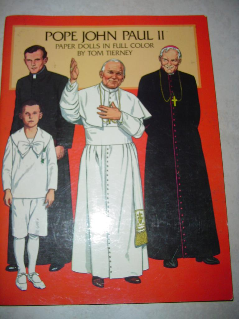 Pope John Paul II Book of Paper Dolls Color Vestments