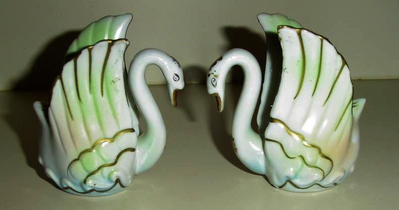 Pair of Swan Candle Holders