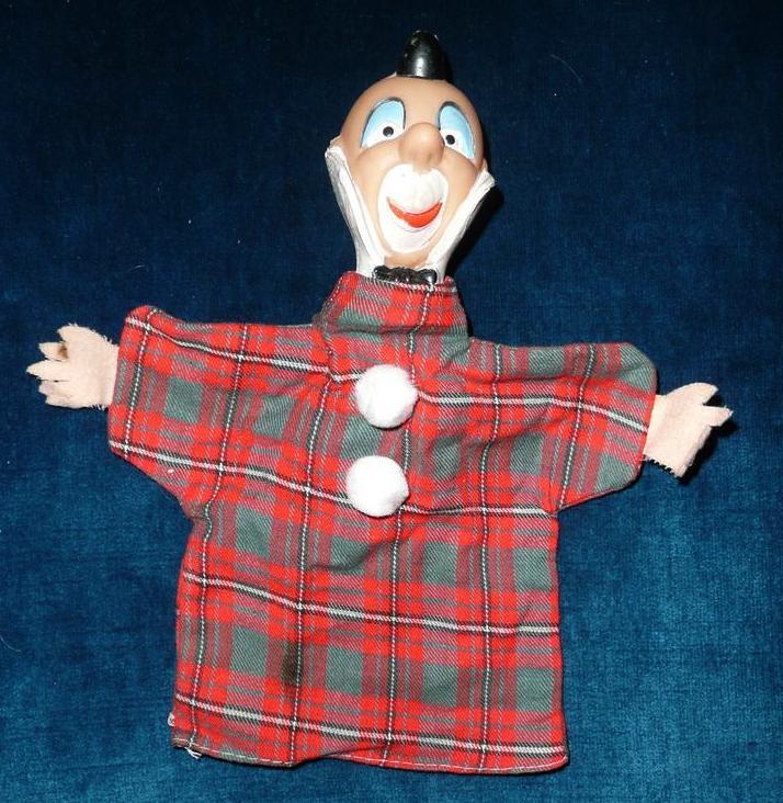 Vintage Clown Hand-Puppet