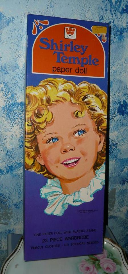 1976 Whitman Shirley Temple Paper Dolls *UNCUT