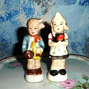 Boy Girl Pair of Salt and Pepper Shakers