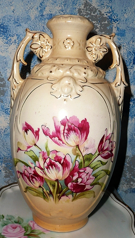 Austria Tall  Red Tulip Vase