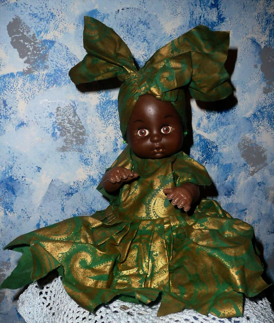 Vintage African/Black  1950's Baby Doll with Working Crier!