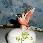 Beautiful 'Semco' Bird Covered Box