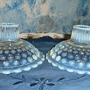 Fenton French Opalescent Set of Candlesticks