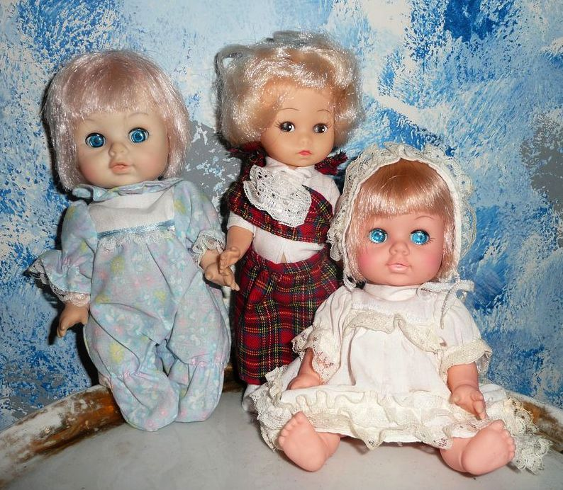 Lot of  Small  1980's Eugene Dolls and a Friend