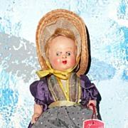 Little Souvenir  Glazing Eyes Doll from Switzerland