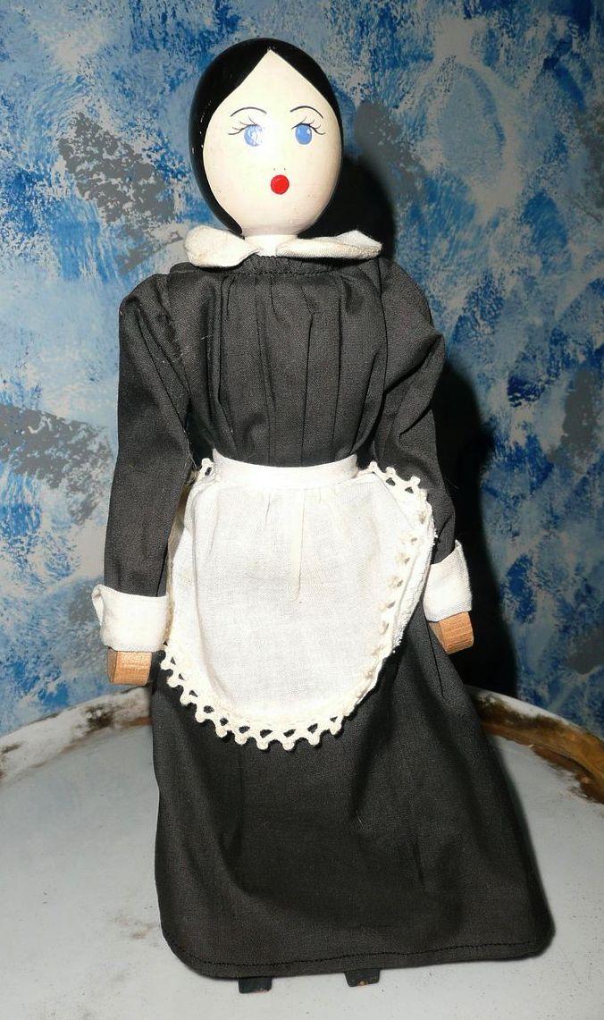"""11""""  Wood  Peg Doll"""