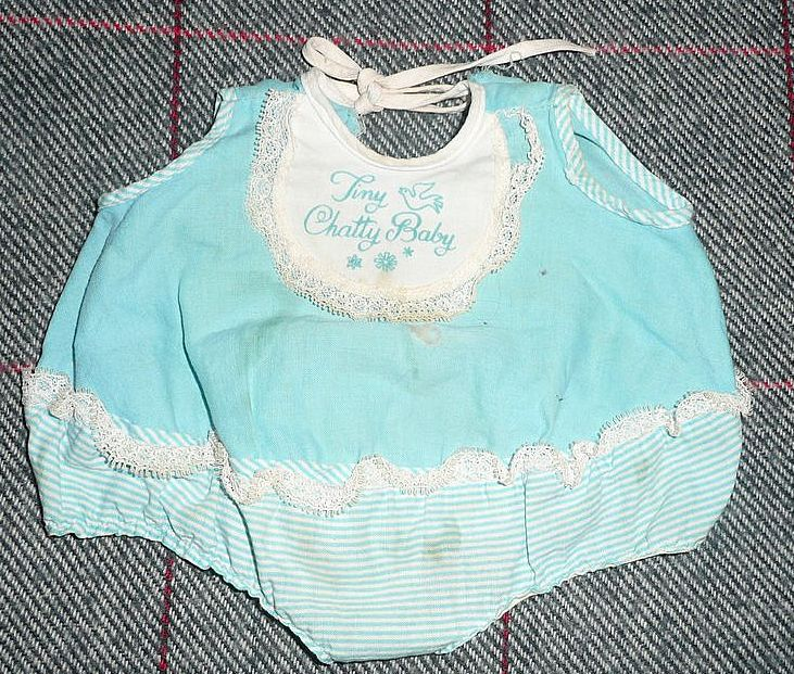 Mattel  1960's Tiny Chatty Baby Romper