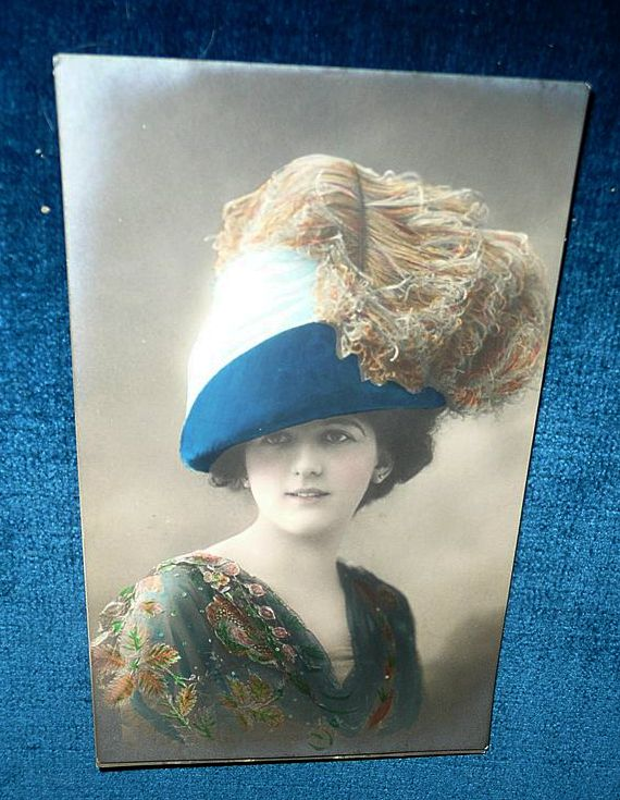 1911 Color Photo Post-Card of English Lady