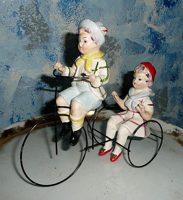 Pair of Tricycle  Riders