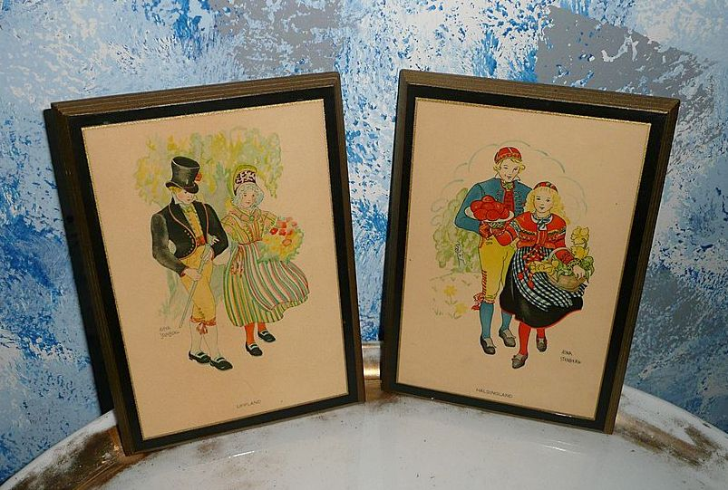 Pair of Swedish Pictures