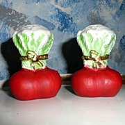 Vintage  Set of  Radish Salt and Pepper Shakers