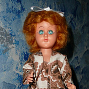 "ATC 12"" Blond  Mohair Wig  Tall Doll"