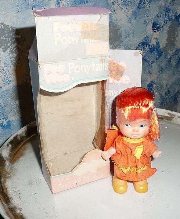 'Pee Wee Ponytails ' Red hair Doll By Uneeda *NIB