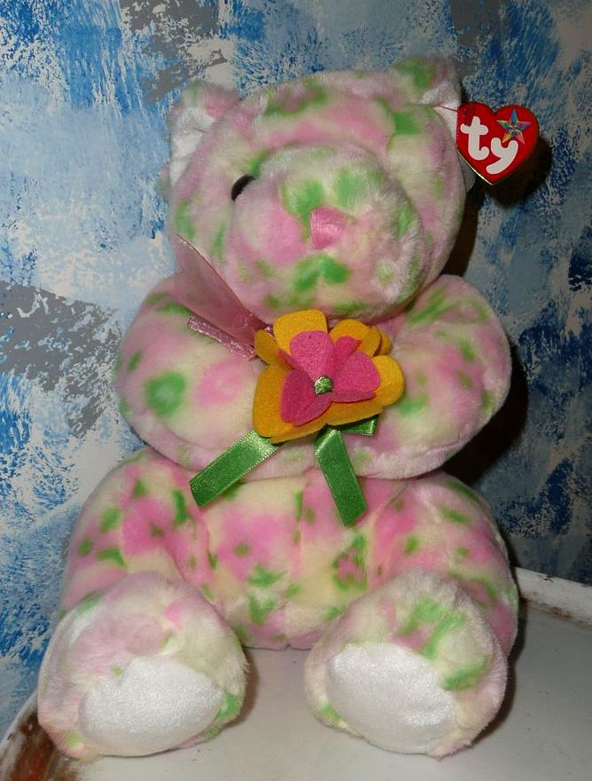 2003  TY Plush Beanie Buddy Buddies Bear  BLOOM with Tag *Retired