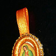 Mini Roman Hand-Made Catholic Virgin of Guadalupe Medal