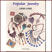 Popular Jewelry 1840-1940 Roseann Ettinger  Collector's Book/Price Book  *New