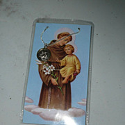 Saint Anthony 'Saint of Miracles' Card , Medal and Chain