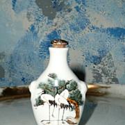 Mythical Cranes ans View of the Chinese Fjords Snuff Bottle