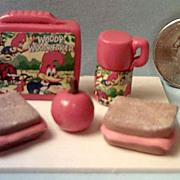 Vintage Miniature Woody Woodpecker   Lunch Box Set *1970's