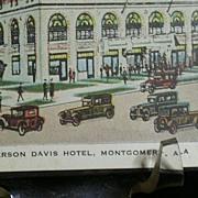 Jefferson Davis Hotel, Montgomery, Alabama Postcard