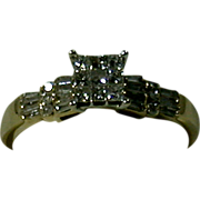 Diamond/14K Yellow & White Gold Lady's Ring, Size 7