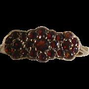 Garnet Triple-Flower Vintage Ring, 9ct Rose Gold, Size 5