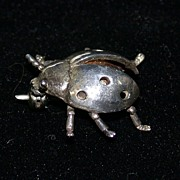 """Sterling Silver Ladybug Pin Marked """"925"""", Cute!"""