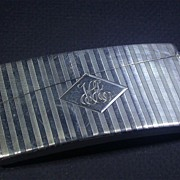 Art Deco Period Sterling Silver Curved Card Case