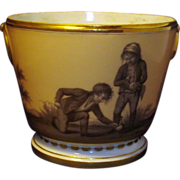 Antique Early 19th century Old Paris Porcelain Cachepot by Dihl