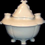 Antique Art Deco Schwarzburg Art Deco Blanc de Chine Incense Burner