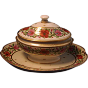 Fine and Rare Early 19th century Old Paris Porcelain Sauce Tureen and Cover 1800