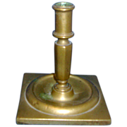Antique 18th century English Brass Candlestick