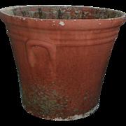 Large Vintage 1940's Watts Concrete Flower Pot Palm Beach