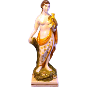 Early 19th century Staffordshire Pearlware Figure of Eve 1810
