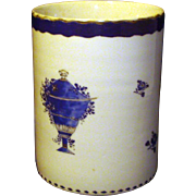 Antique Early 19th century Chinese Export Porcelain Tankard Mug 1800