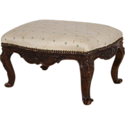 Antique 18th century French Louis XVI Fruitwood Tabouret Stool