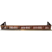 Antique English Edwardian Brass Fireplace Hearth Fender