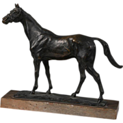 Patinated Bronze Figure of a Horse - Sous Off - France Late 19th century by Animalier Gaston d'Illiers