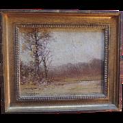 Edward Loyal Field (1856 - 1914) 19th century Tonal Landscape Oil on Board