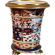 Antique Early 19th century English Spode 967 Imari Porcelain Vase with Animal Paw Feet 1810