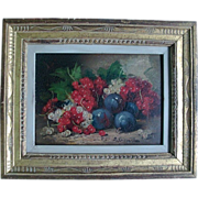 19th c. Oil Painting on Board of a Fruit Still Life