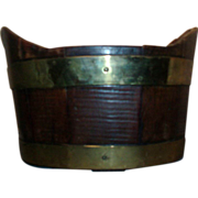 18th century Dutch Brass Bound Mahogany Wine Cooler / Coaster or Planter