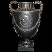 Fine 18th century Wedgwood & Bentley Black Basalt Urn Vase 1770
