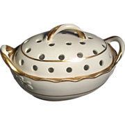 Early 19th c. Spode White & Gilt Large Porcelain Violet Bough Pot 341