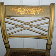 Antique Early 19th century American Federal Paint Decorated Fancy Chair 1810