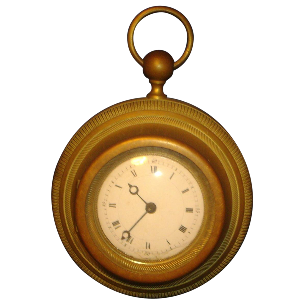 Antique 19th century French Empire Small Scale Cartel Wall Clock