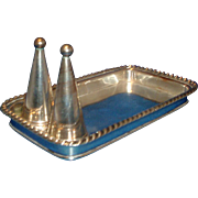 Fine and Rare Antique Early 19th century Old Sheffield Silver on Copper Candle Tray & Snuffer